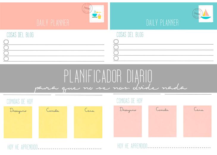 Planificador diario para que no se nos olvide nada for Planificador cocinas gratis