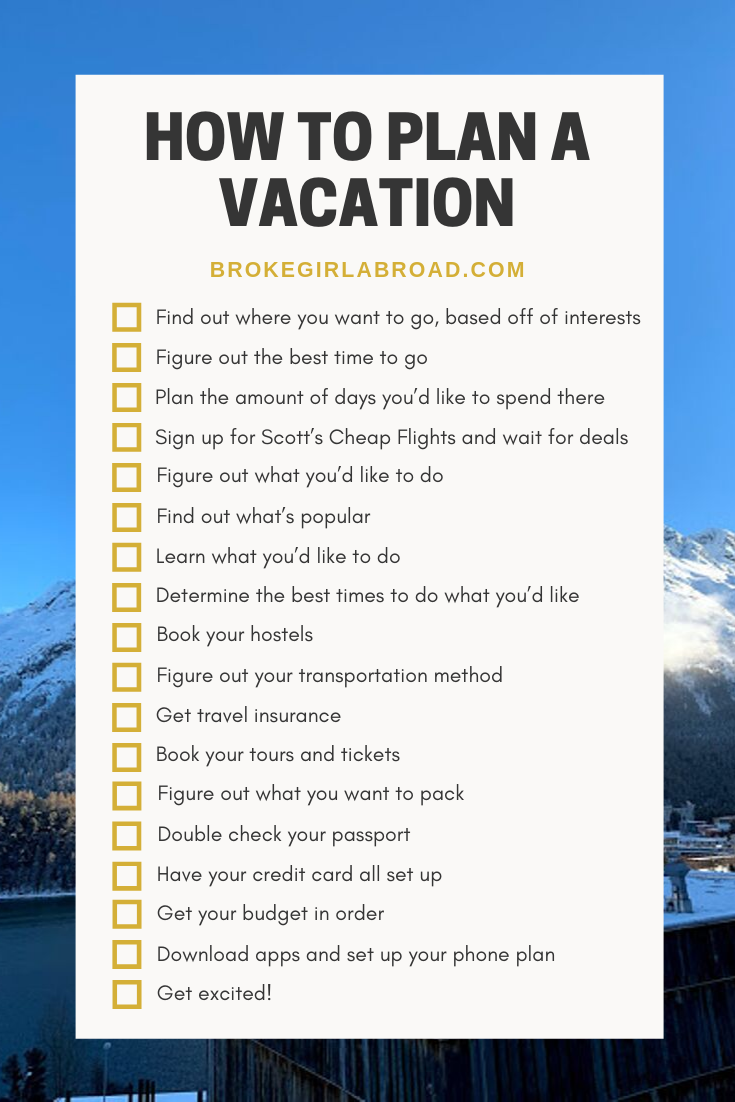 Never Planned A Trip Before Start Here Broke Girl Abroad Vacation Plan How To Plan Vacation