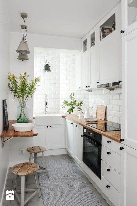 Einrichtungsideen Für Kleine Küche. Kleine Küche Dekorieren Einrichten  Renovieren. Skandinavisch Modern Weiß Hell
