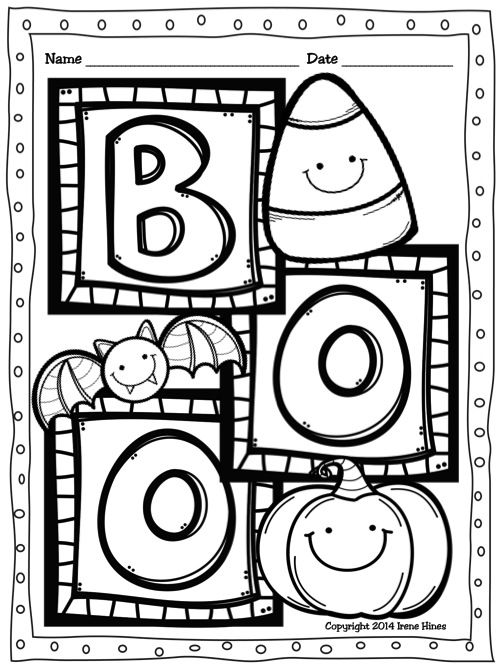 Halloween Coloring Theme Pages Printable Packs ~ Perfect