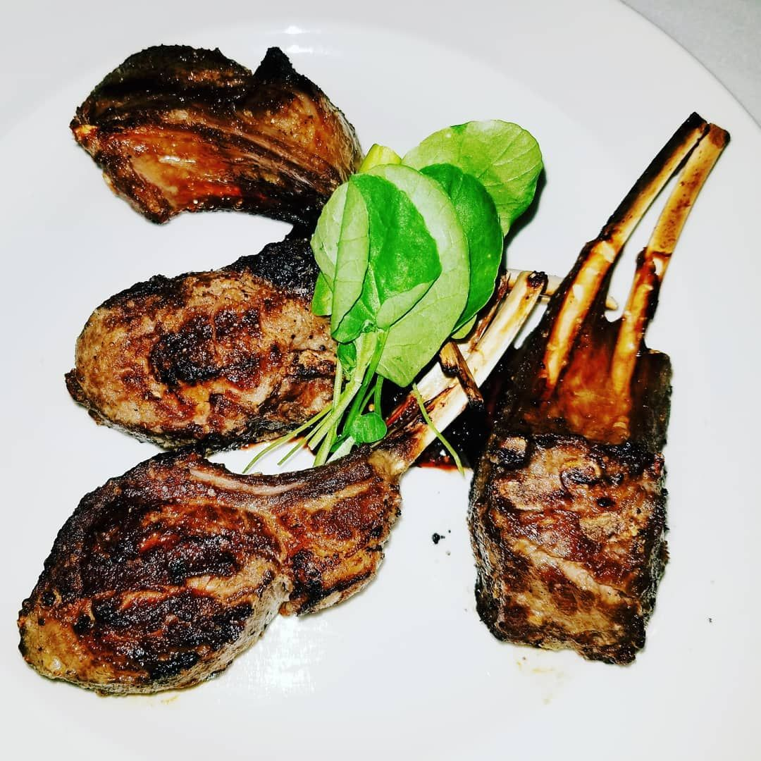 Simple but perfect! Double cut lamb rib chops. #food #foodie ... for Lamb Meat Photography  113cpg