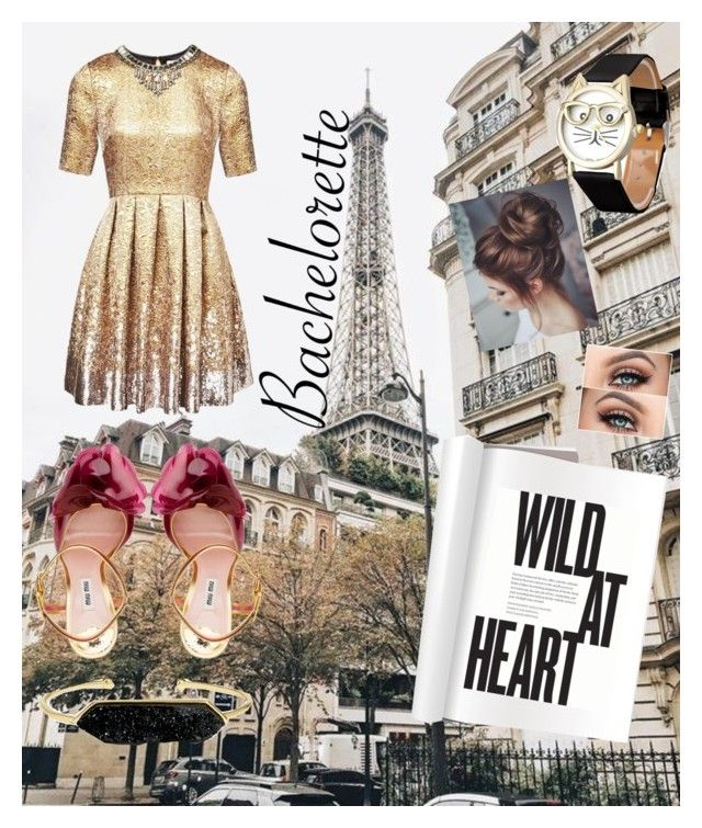 """""""Parisfull"""" by brazilianbelle ❤ liked on Polyvore featuring Matthew Williamson, Miu Miu and BaubleBar"""