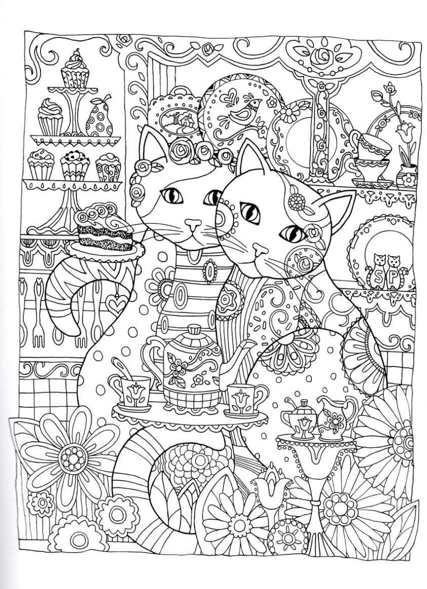 Gatos para colorir coloring pinterest adult coloring coloring