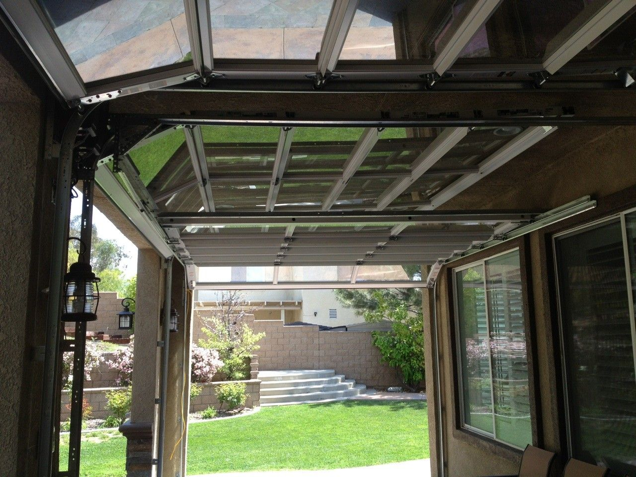 x garage pin anodized glass door clear wayne laminate dalton doors white