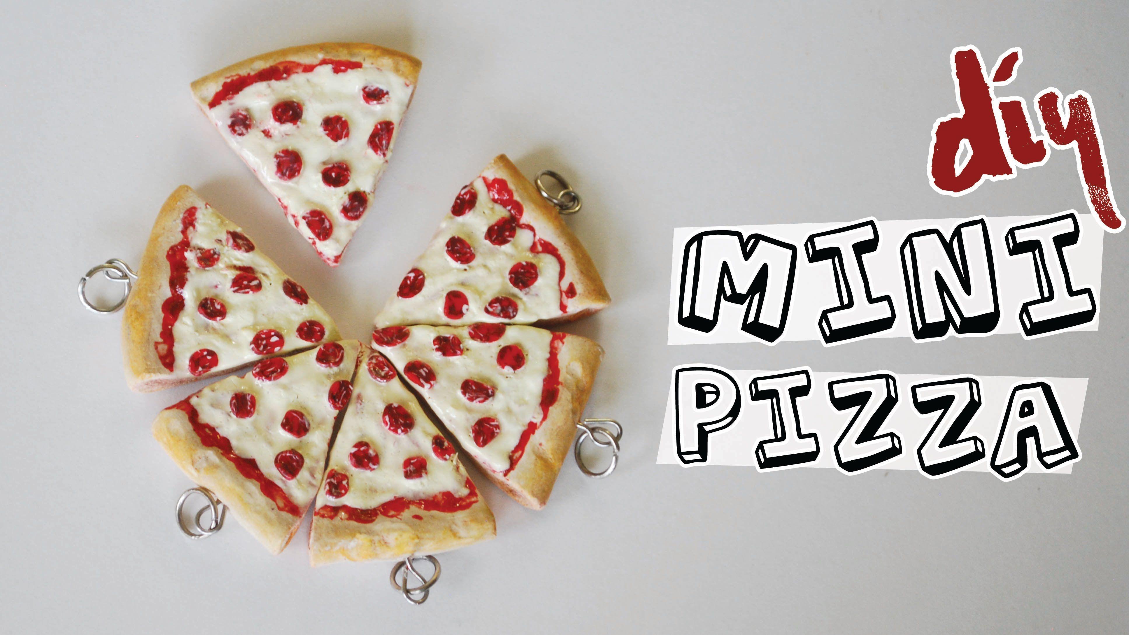 DIY Colar da amizade/melhores amigas de MINI PIZZA. (DIY Best Friends necklace). Cada fatia fica com uma pessoa especial para você!