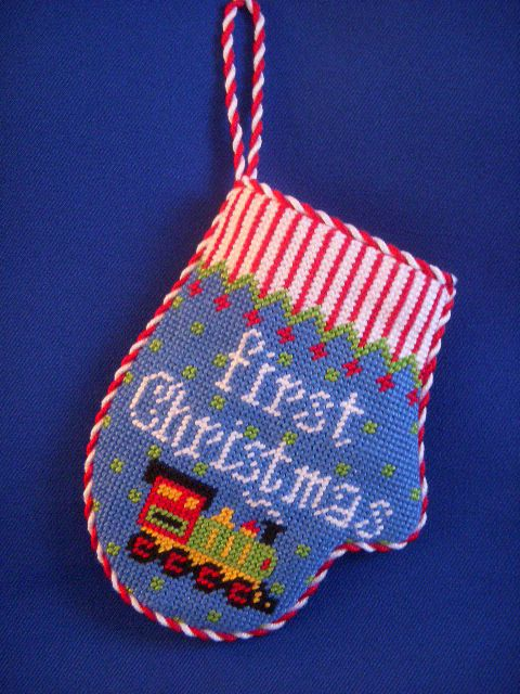 Baby S First Christmas Mitten Ornament Needlepoint
