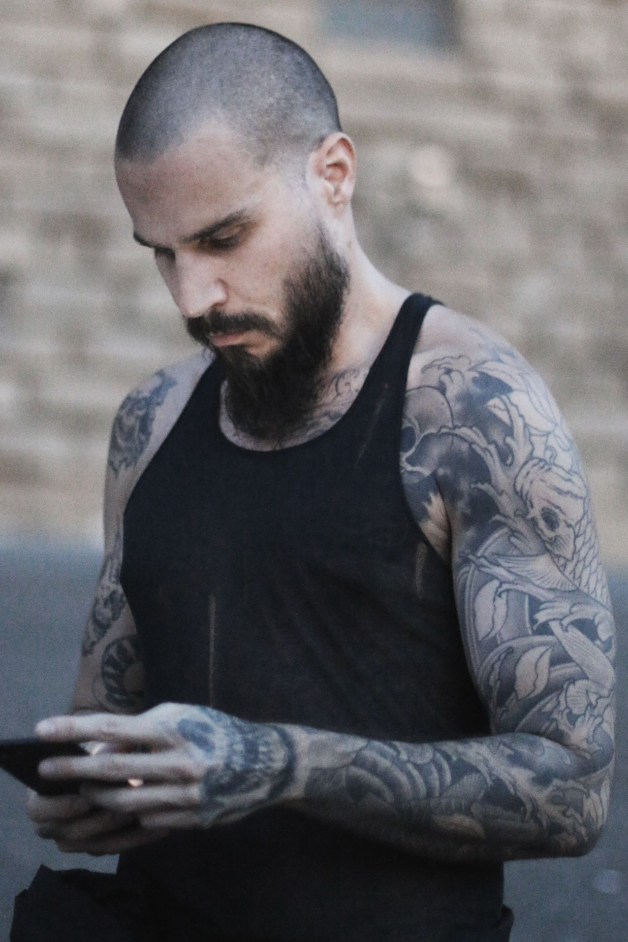 Fetish Barber Tattoed Bearded And Shaved Head