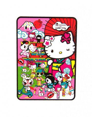 Limited Edition Retired Tokidoki X Hello Kitty Kimono 4040 X 4040 Inspiration Hello Kitty Fleece Throw Blanket
