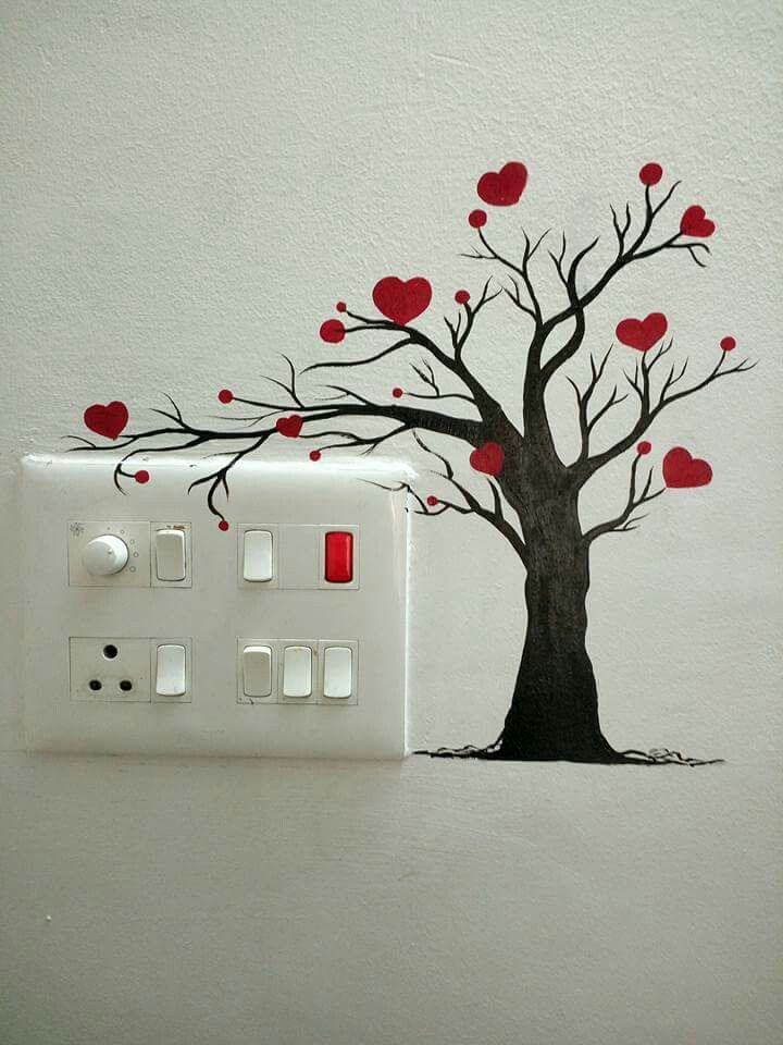 Small Wall Stickers To Interact With Light Switches And Other