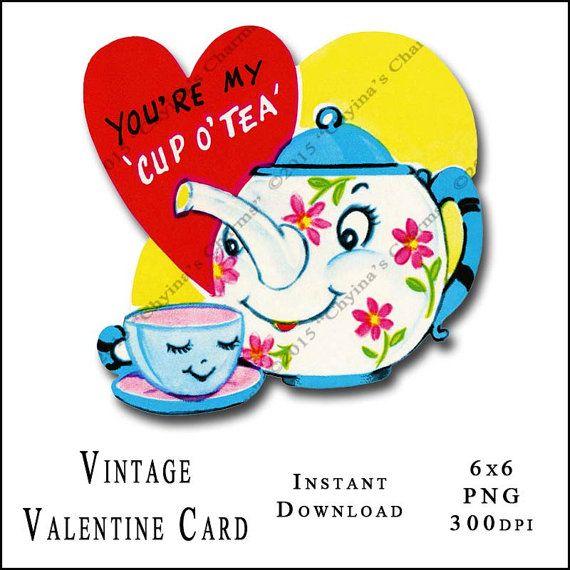 15+ Valentine's Day Tea Clipart