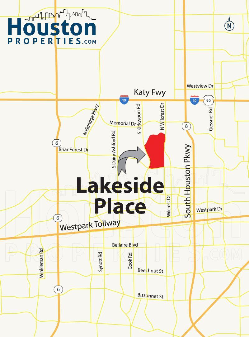 Lakeside Place Houston Map | Great Maps Of Houston | Pinterest