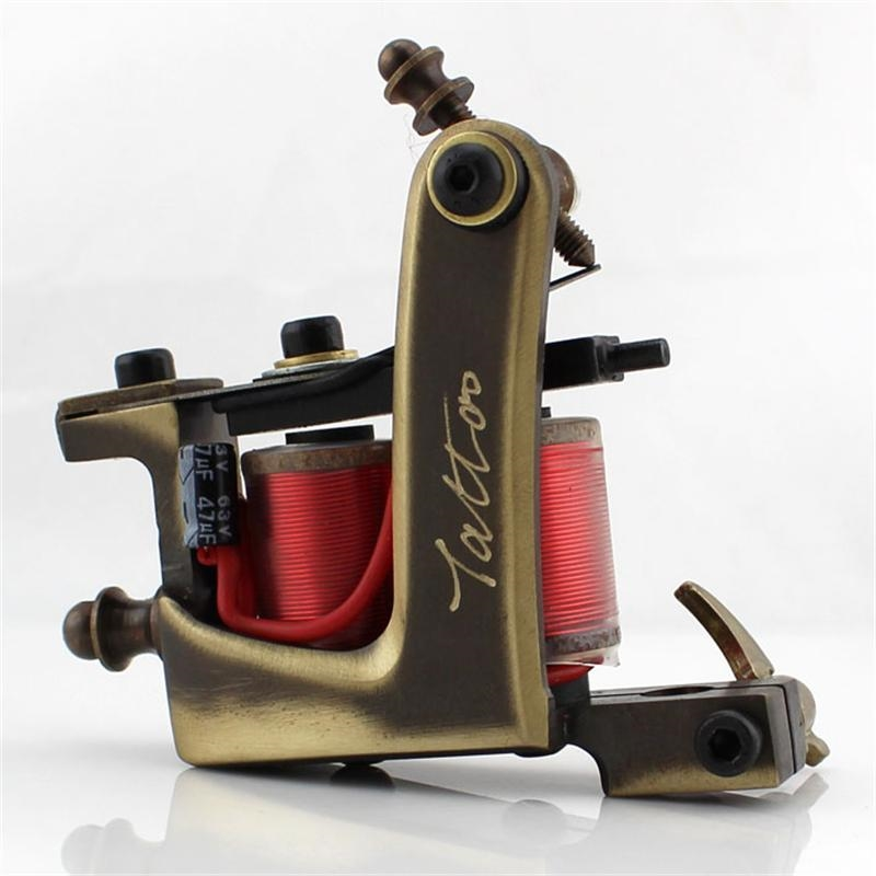 56.05$  Watch here - http://aliekc.worldwells.pw/go.php?t=32643058131 - New Arrival Tattoo Liner Gun Professional Handmade Copper Tattoo Machine  12 Wrap Coils free shipping 56.05$