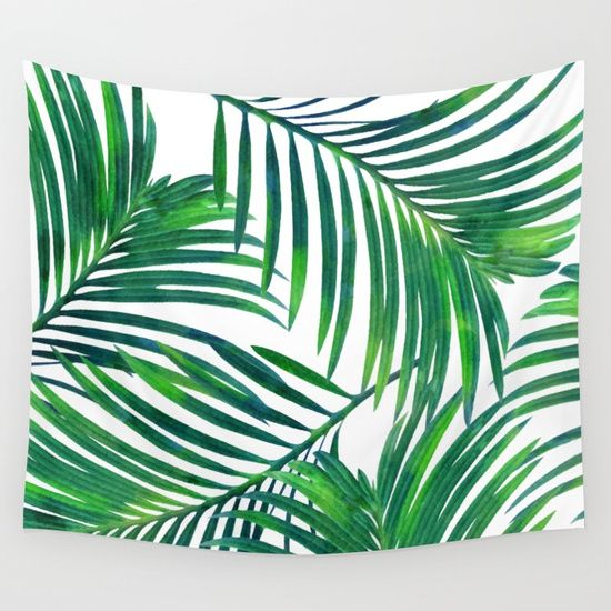Palm Illustration + Pattern<br/> tropical, exotic<br/> leaves, plant, botanical...