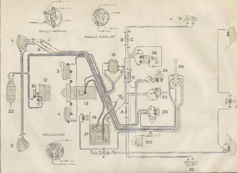 Faisceau Electrique 2 Cv A Capots Ondules Schema Moteur Restauration 2cv Electrique