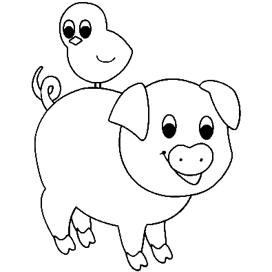 Baby Pig Coloring Pages Kids Printable