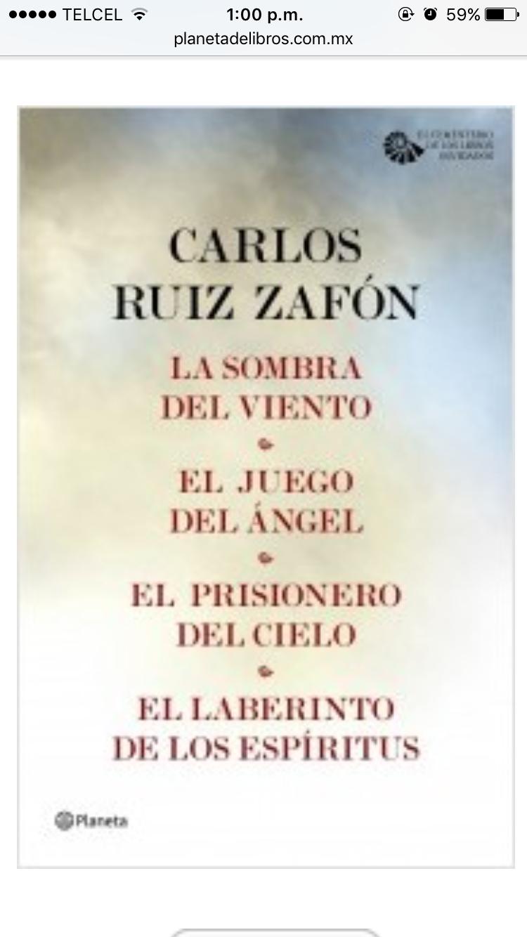 Descubriendo Que Es Saga Tengo Que Leer Los últimos Tres Carlos Ruiz Carlos Ruiz Zafon Libros Libros De Lectura Gratis