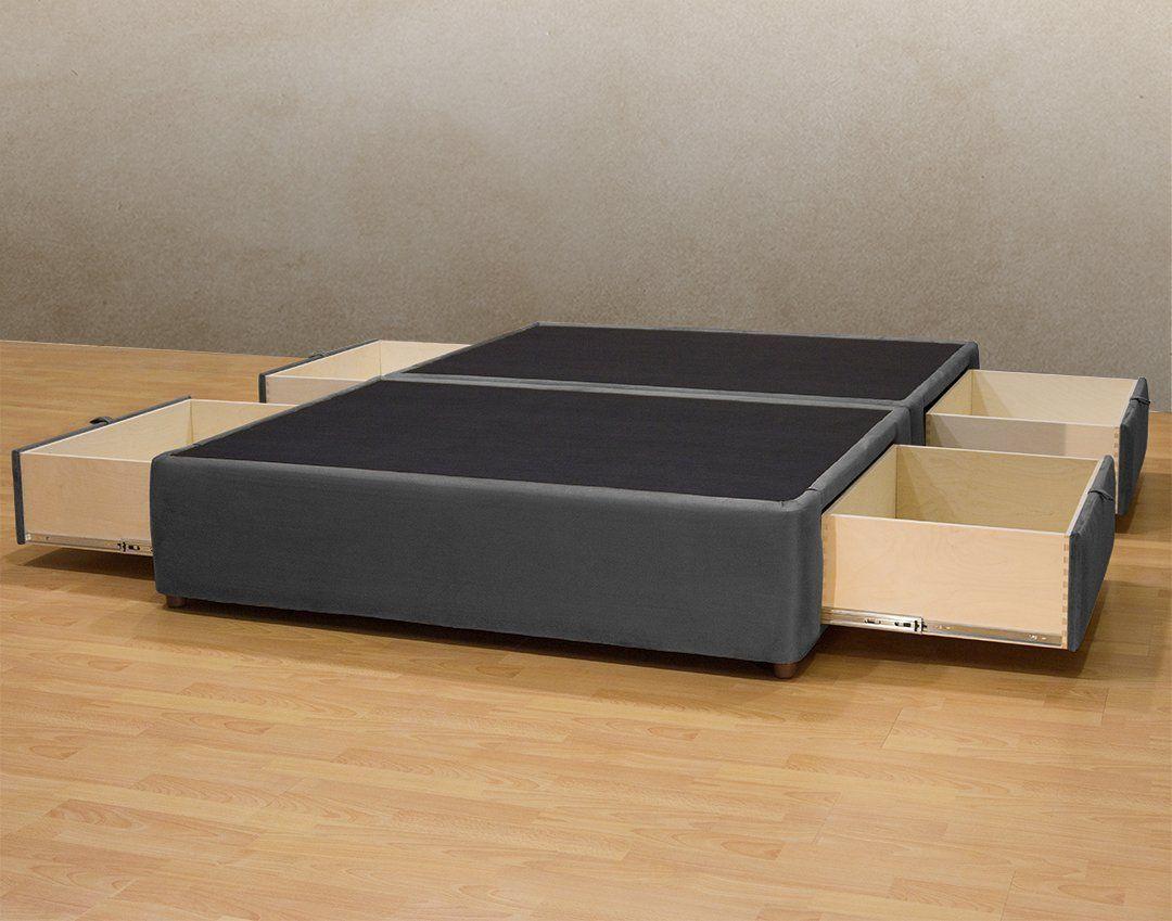 King Size Platform Bed with Storage Frame | Zindgi | Pinterest