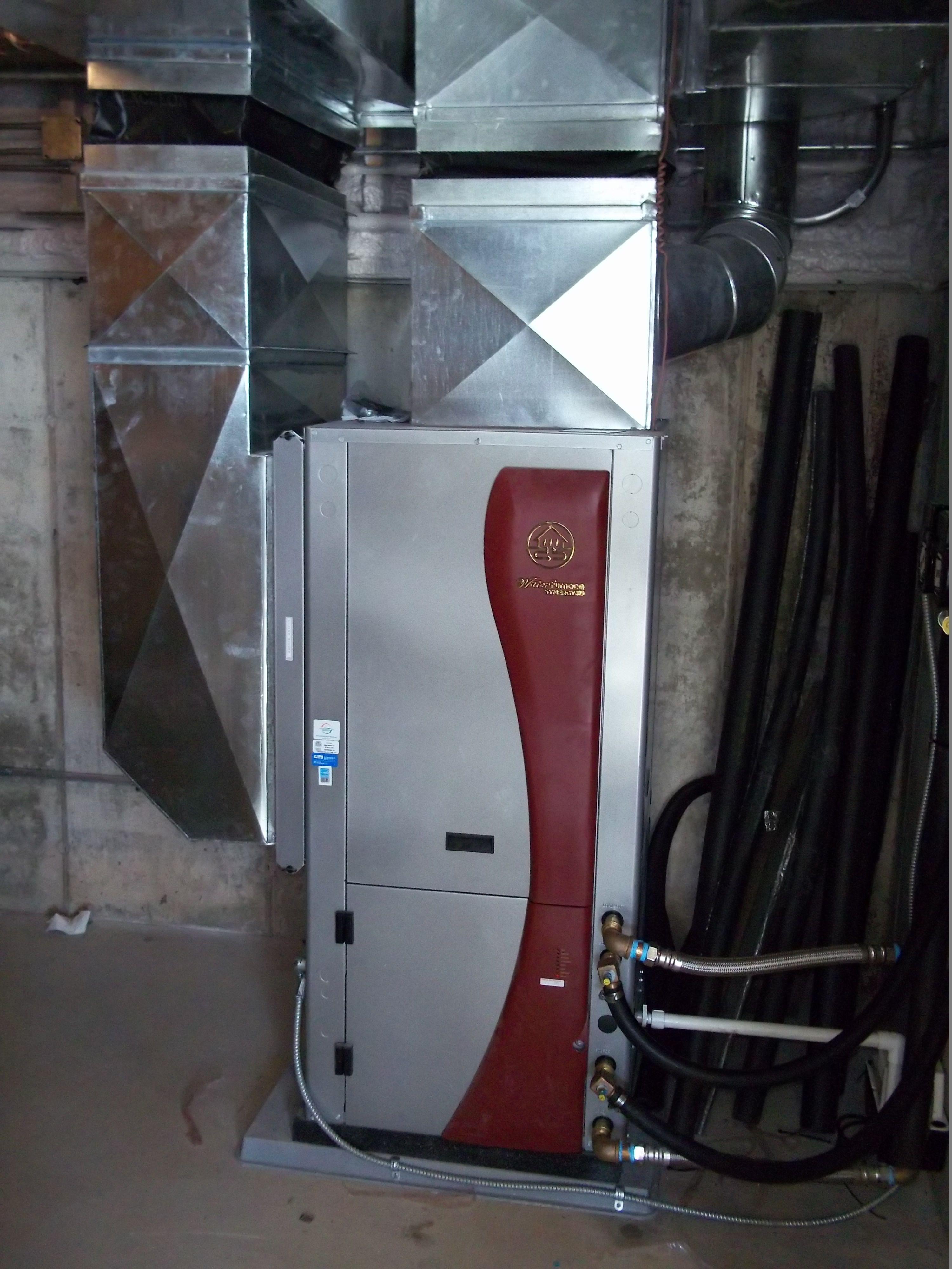 Waterfurnace Geothermal Installation Air Ease Heating And Cooling Geothermal Heating Geothermal Energy Geothermal Heating Cooling