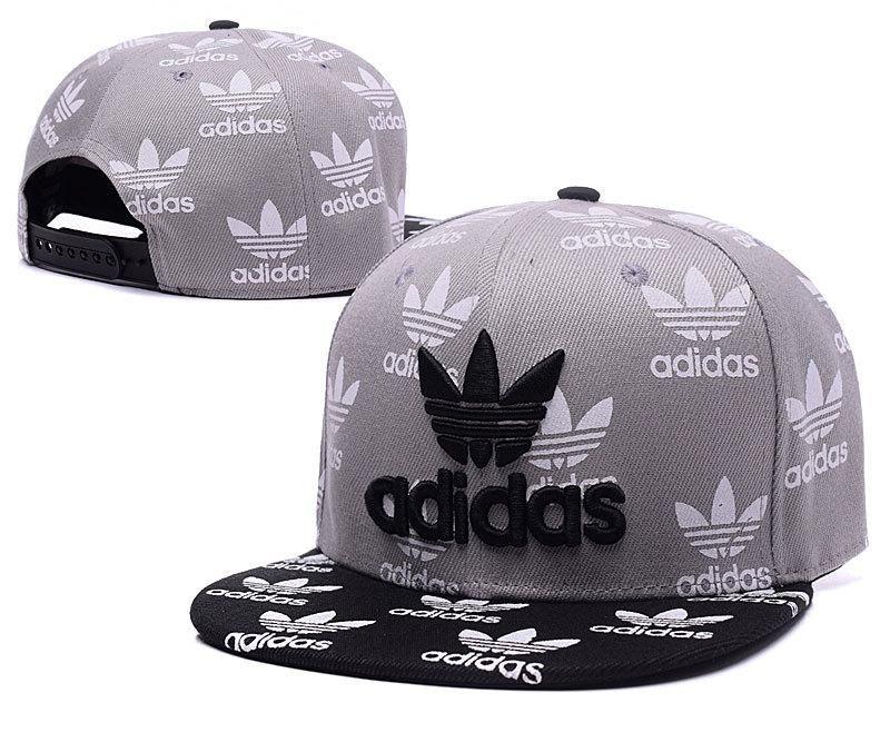 Mens Adidas The Original Adidas Logo Full Small Adidas Printed Logo  Baseball Snapback Hat - Grey   Black f96811b383a