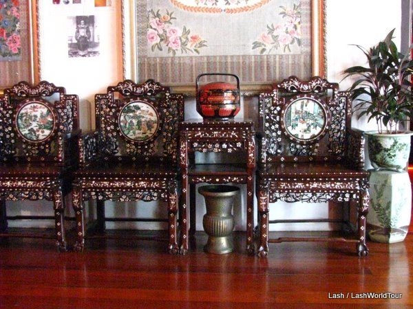 Chinese Furniture With Inlaid Mother Of Pearl Pinang Peranakan Mansion