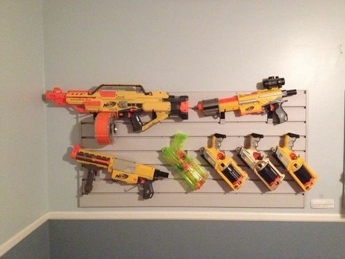 Great Idea Of The Day Use Slatboard To You Nerf Guns Offbeat Home