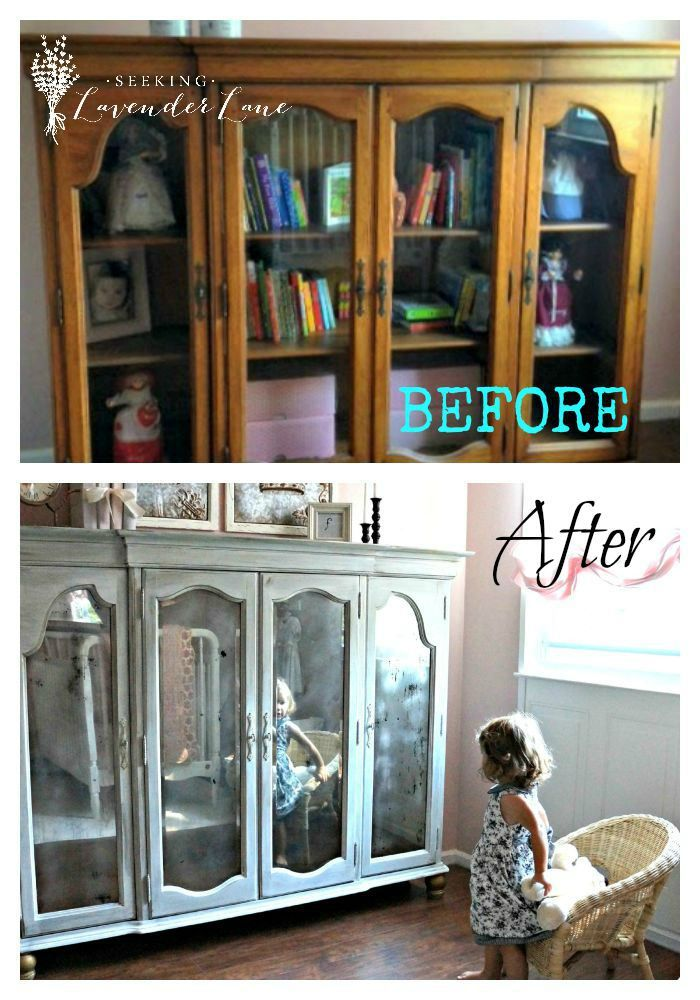 Before And After Armoire From The Top Half Of A Dining Room Hutch Repurposed