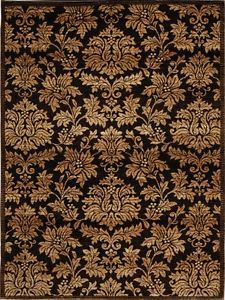 Damask Brown Gold Area Rug 8x10 Persian Carpet 1000 Actual 7 8 X 10 2 Ebay Area Rugs Home Dynamix Rugs