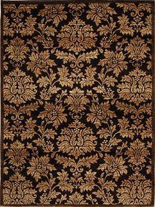 Damask Brown Gold Area Rug 8x10 Persian Carpet 1000 Actual 7 8 X