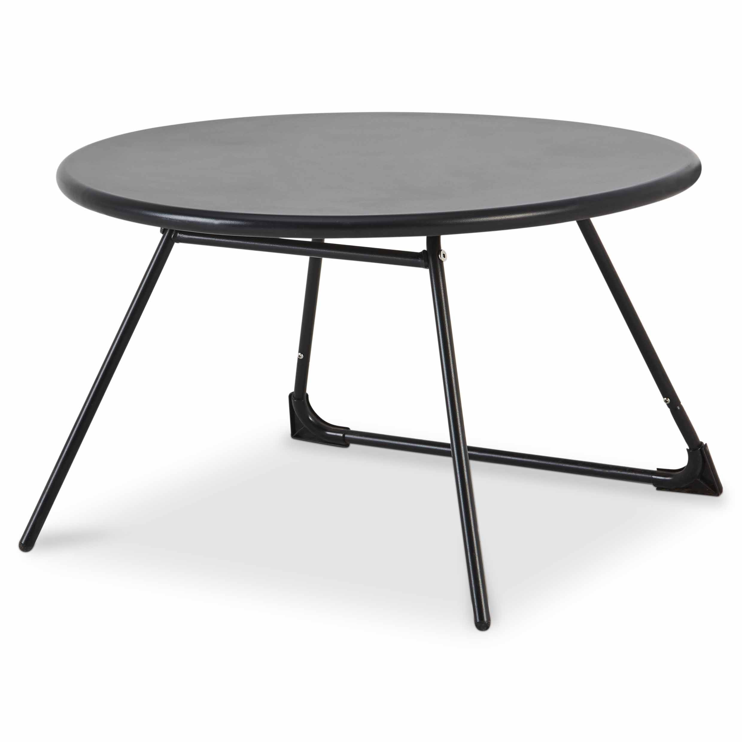 Table basse de jardin Nova ø70 cm noir | Inspirations Déco | Table ...