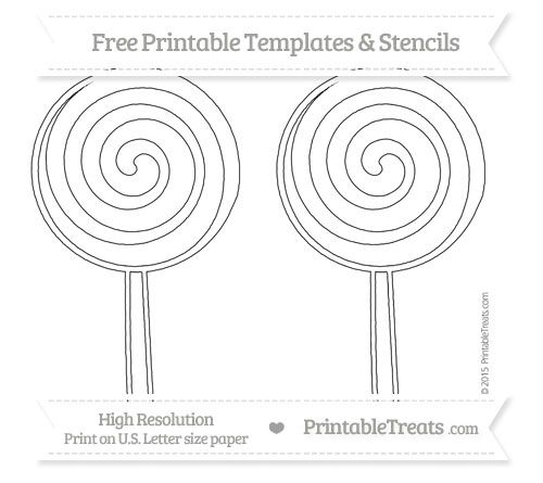 Free Printable Large Swirly Lollipop Stencil Shapes and
