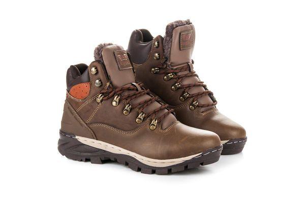 Arrigo Bello Meskie Obuwie Na Zime Brazowe Hiking Boots Boots Shoes