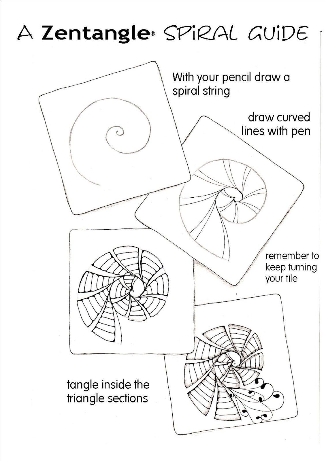 A Zentangle Spiral Guide