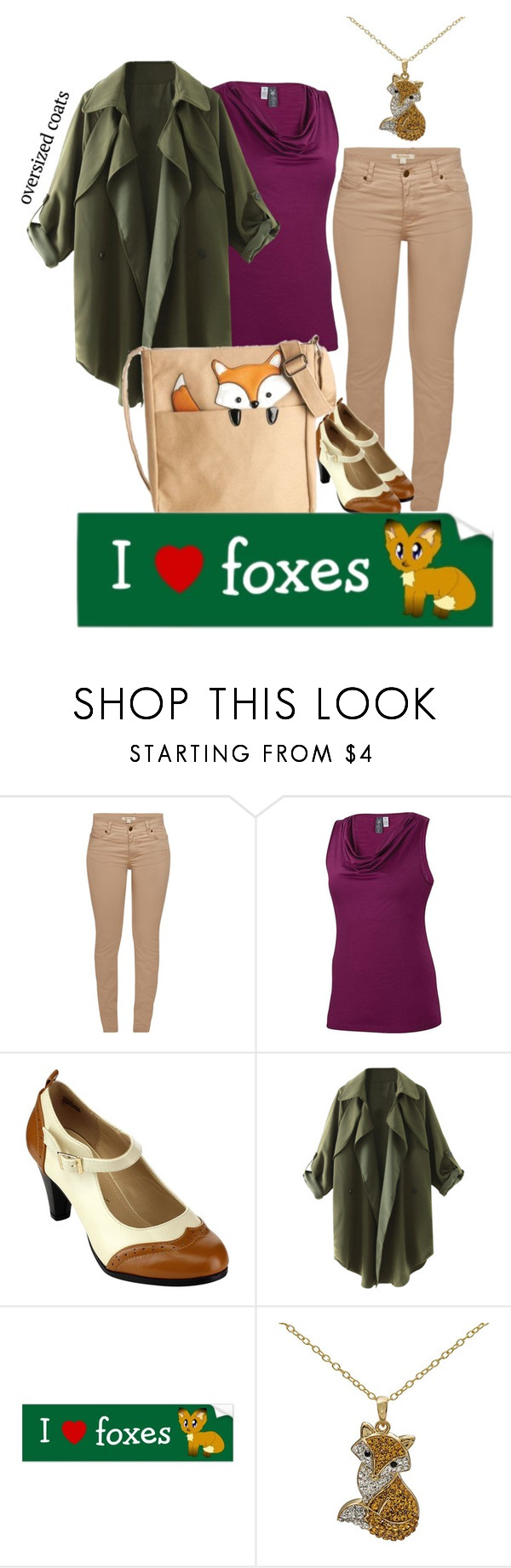 """I Love Foxes"" by soaring-dreams ❤ liked on Polyvore featuring Barbour, ibex, Chase & Chloe, fox and oversizedcoats"