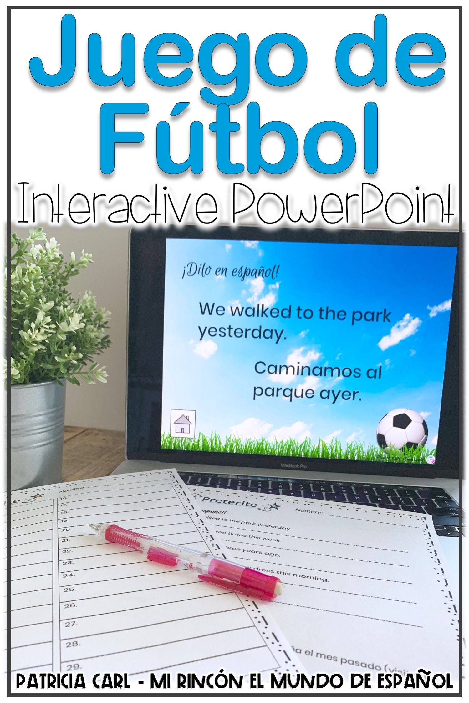 Spanish Preterite Game And Worksheet Juego De Futbol Distance Learning Spanish Learning Activities Spanish Classroom Games Preterite Tense [ 2249 x 1499 Pixel ]