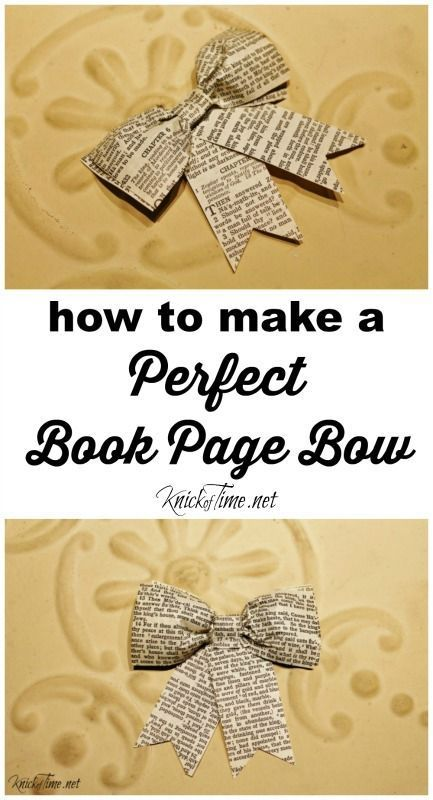 How to Make a Perfect Book Page Bow