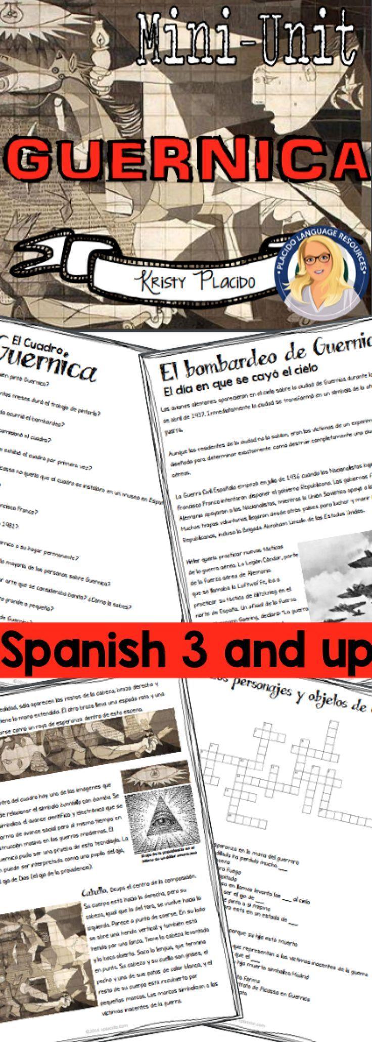 Guernica Unit (Level 3+) Guernica, Spanish classroom