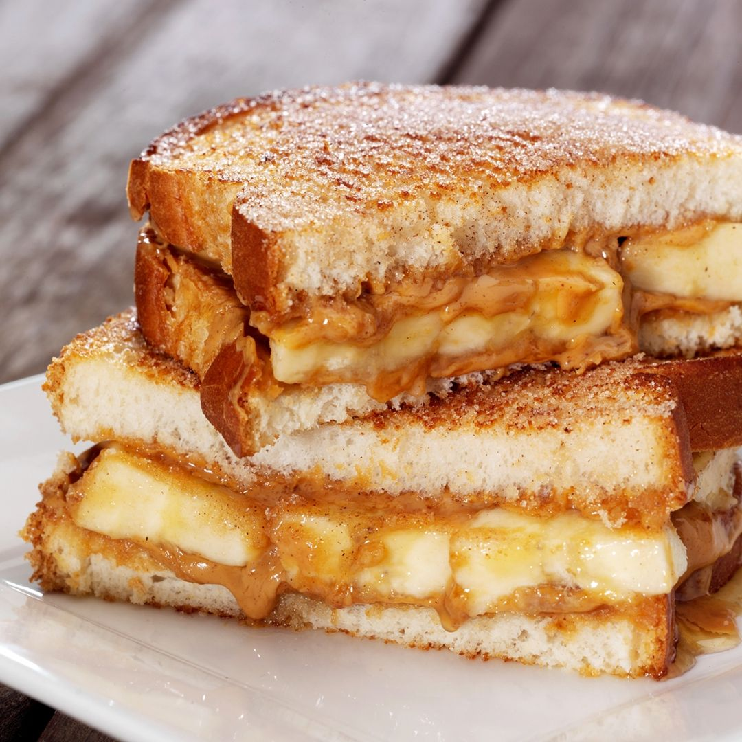 The Peanut Butter, Banana and Honey Sandwich #sandwichrecipes