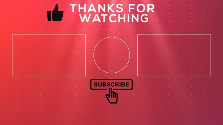 Free 2d Outro Template 11 Endscreen No Text Rkmfx Templates Text Intro