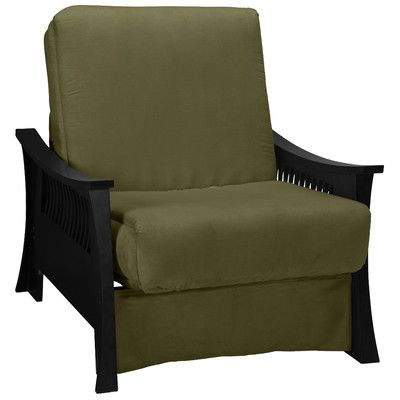 Epic Furnishings LLC Beijing Futon Chair Frame Finish: Black, Seat Finish:  Olive Green | Products | Pinterest | Futon Chair And Products