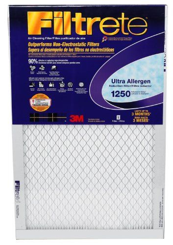 Filtrete Ultra Allergen Reduction Air Filter, 1500 MPR (Previously 1250), 20-inch By 20-inch By 1-inch, Case of... - List price: $192.98 Price: $179.01