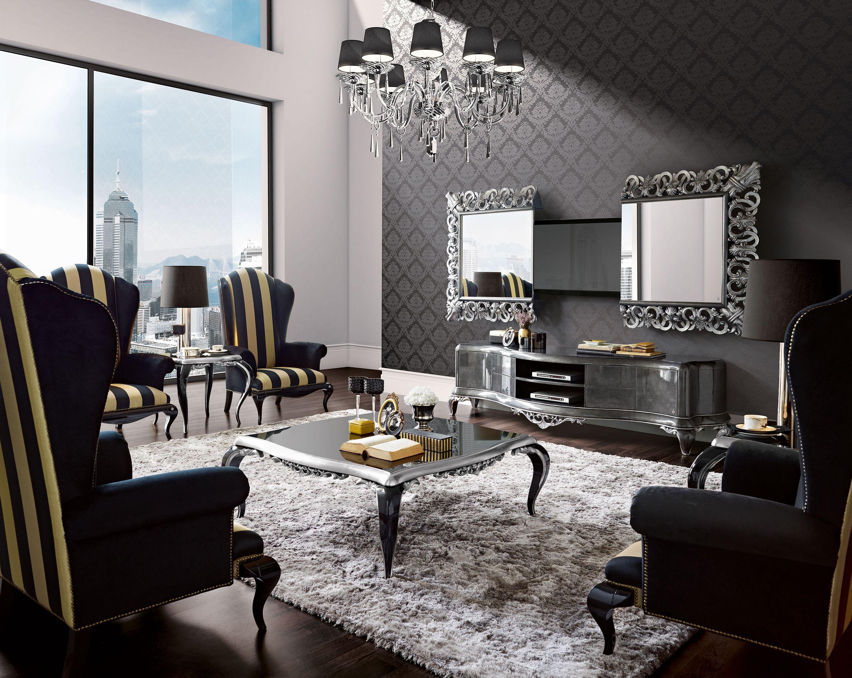 Best Capri Grey Living Room With High Tech Mirror Jetclass 400 x 300