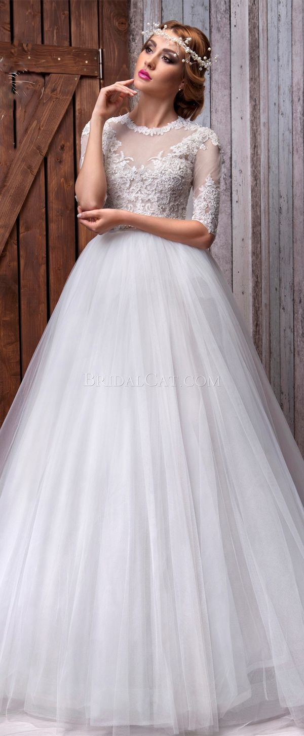 Beaded ball gown wedding dress  Gorgeous Tulle Jewel Neckline Ball Gown Wedding Dress With Beaded