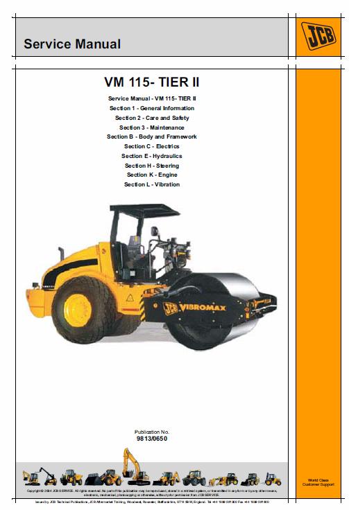 Jcb Vibromax Vm115 Tier 2 Service Manual Repair Manuals Manual Repair