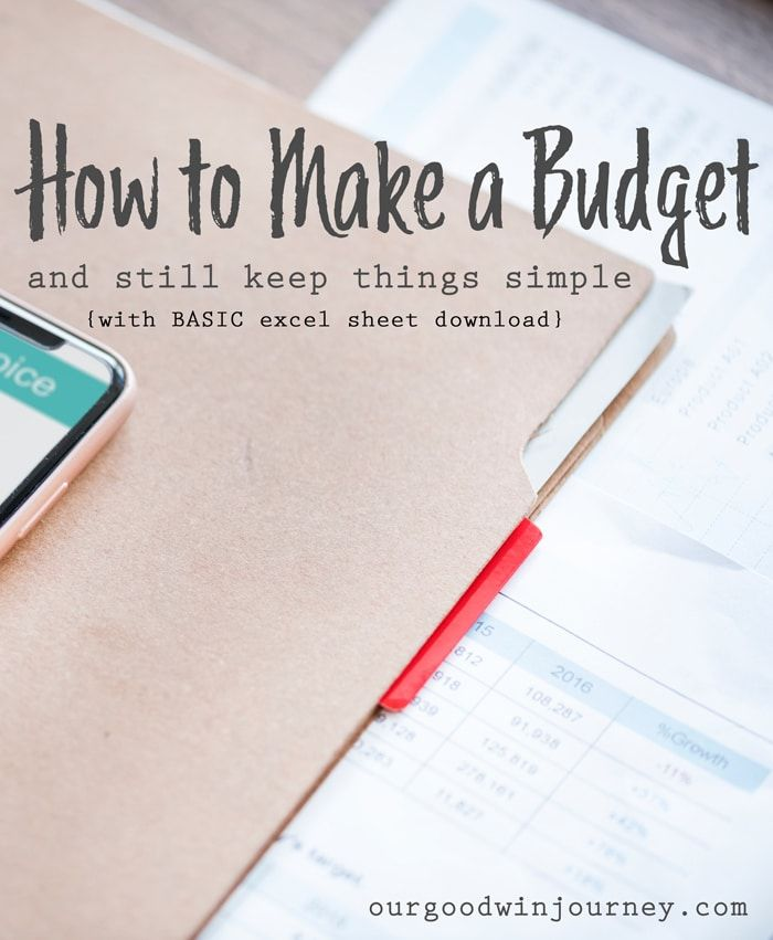 How to Make a Budget - Includes BASIC Monthly Spreadsheet - how to make a budget spreadsheet