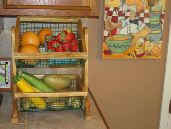 Countertop Two Tier Vegetable And Fruit Storage By Bluebirdshop1