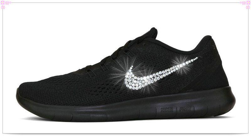 5e3ba9609f58a Over 70% Discount Off Popular 2017 Fashion glitter kicks Womens Nike Free  RN Hand Customized