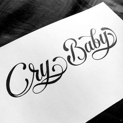 Pin By Christian Castro On Tatuajes Cry Baby Tattoo Cursive Tattoos Baby Tattoos