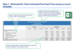 Dcf Model Template In Excel  Flow Financial Statement And Cash