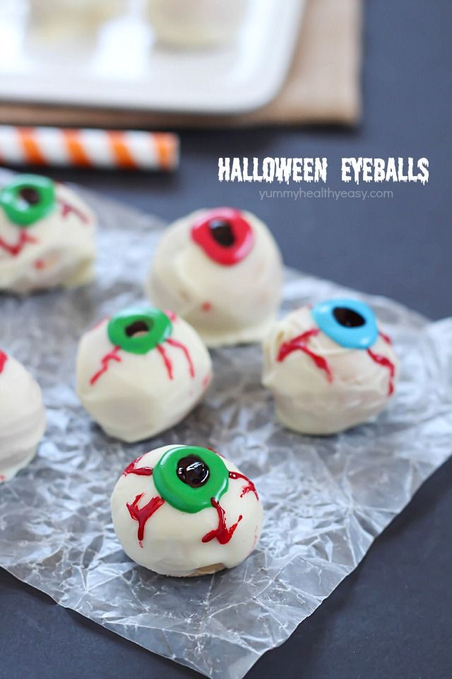 peanut butter truffle halloween eyeball recipe a spooky halloween treat with only 4 ingredients