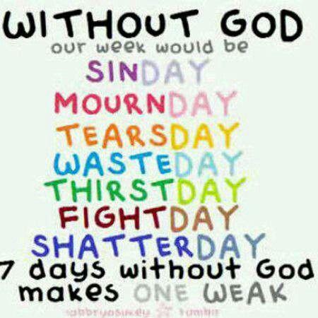 Withoug God!